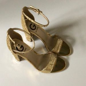 Brand New Guess Gold Multi Texture Heels